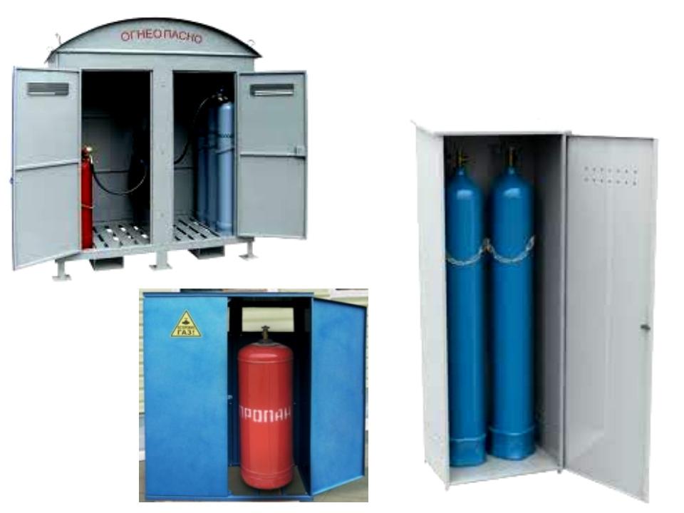 Хранение газовых баллонов в жилых домах