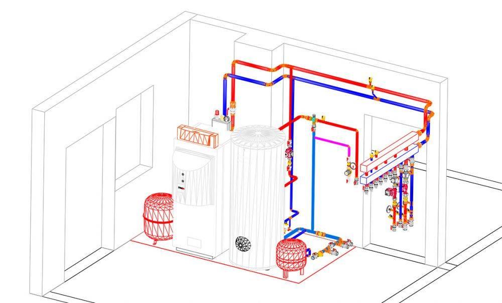 Отопление коттеджа: газом, проект, схема и монтаж системы обогрева дома