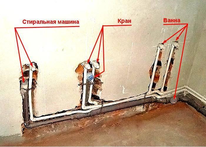 Разводка труб в ванной комнате своими руками