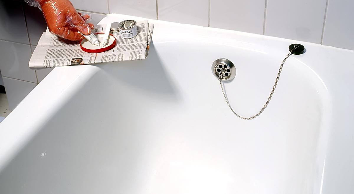 Чем и как заделать скол эмали на ванне своими руками