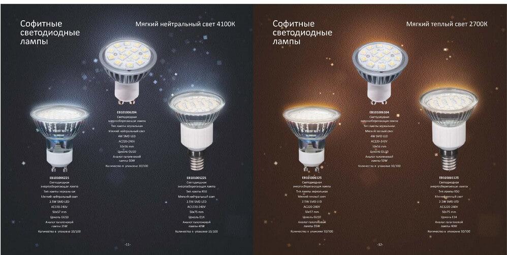 Светодиодные лампы gauss и их характеристики