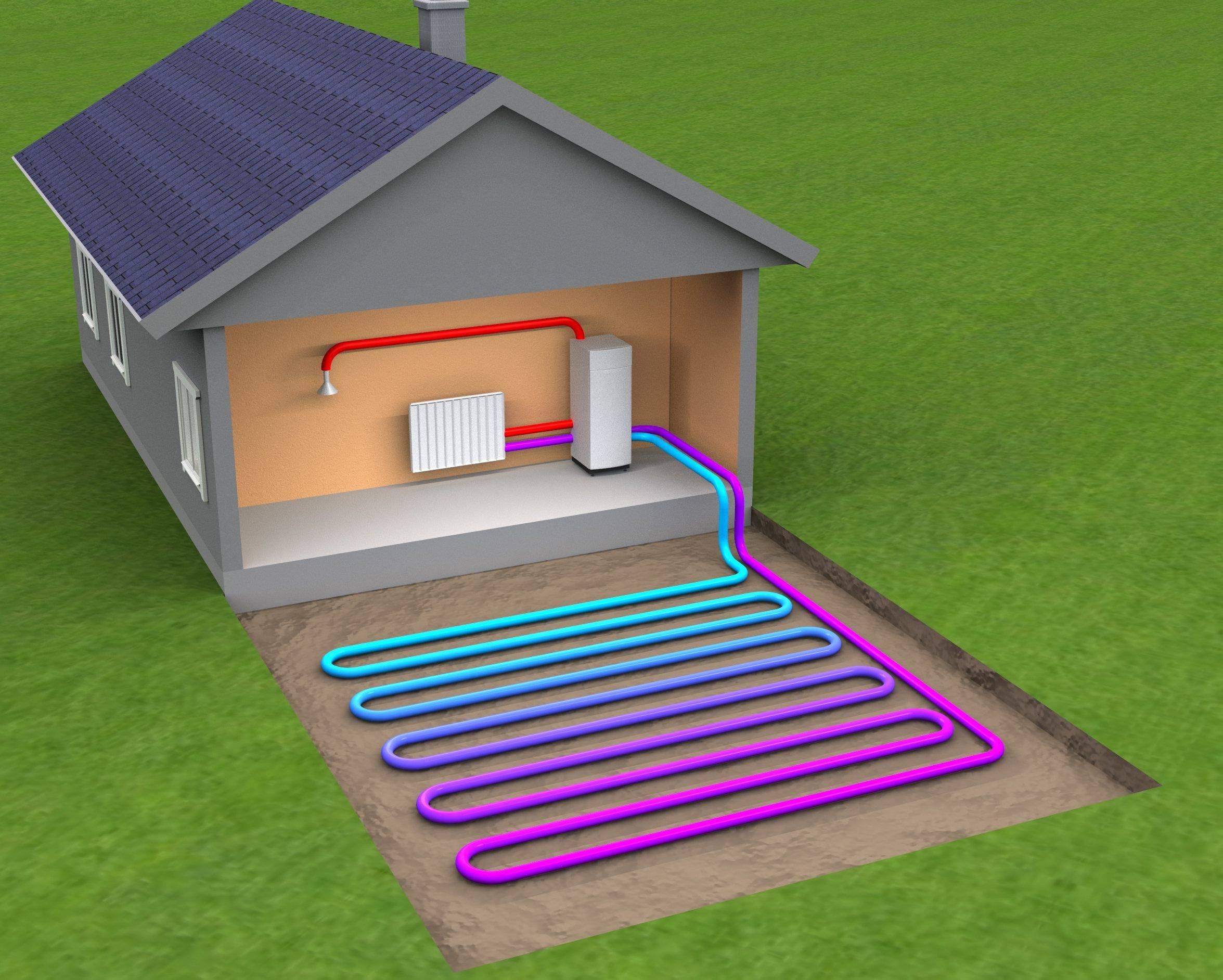 Геотермальное отопление, принцип работы, монтаж своими руками
