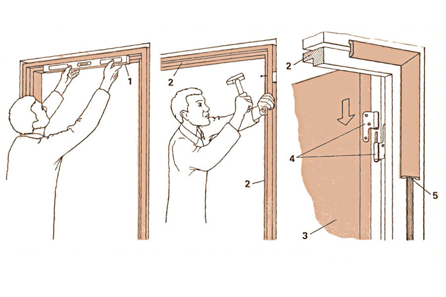 [инструкция] установка межкомнатных дверей   видео