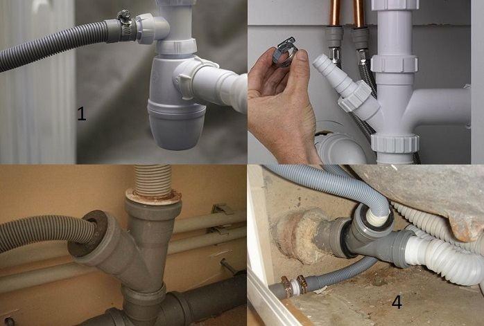 Высота слива для стиральной машины в канализацию в стене: на какой подключать шланг