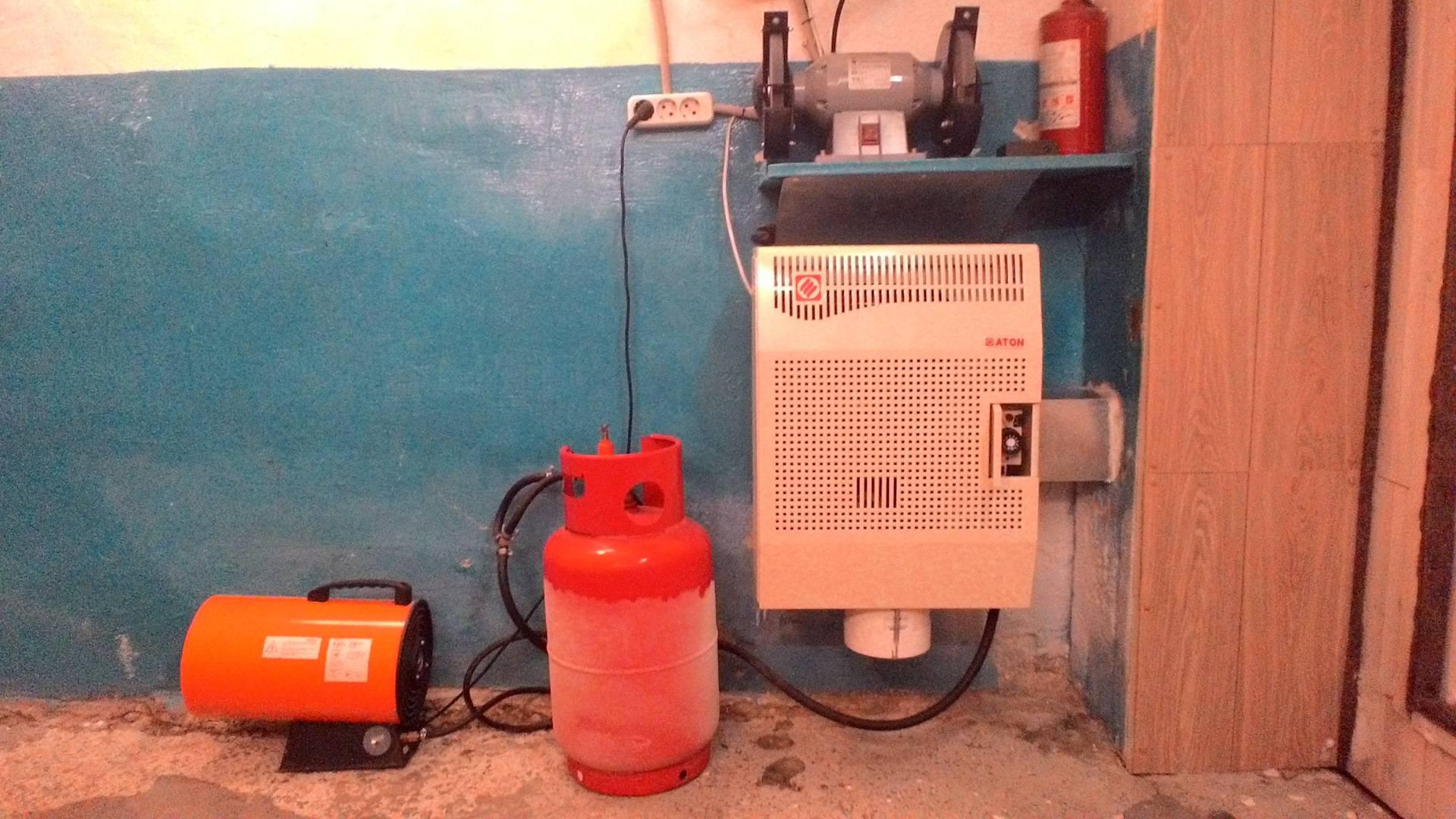 Отопление гаража своими руками экономно - советы и инструкции!