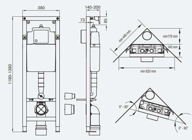 Угловая инсталляция для унитаза: советы по выбору и правила установки