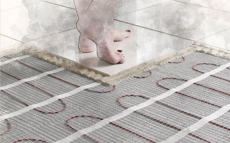 Монтаж теплого пола под плитку: виды систем подогрева, общие требования обустройства и правила монтажа своими руками