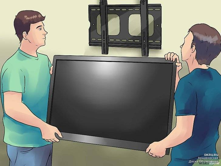 Как повесить телевизор без кронштейна на стену: пошагово