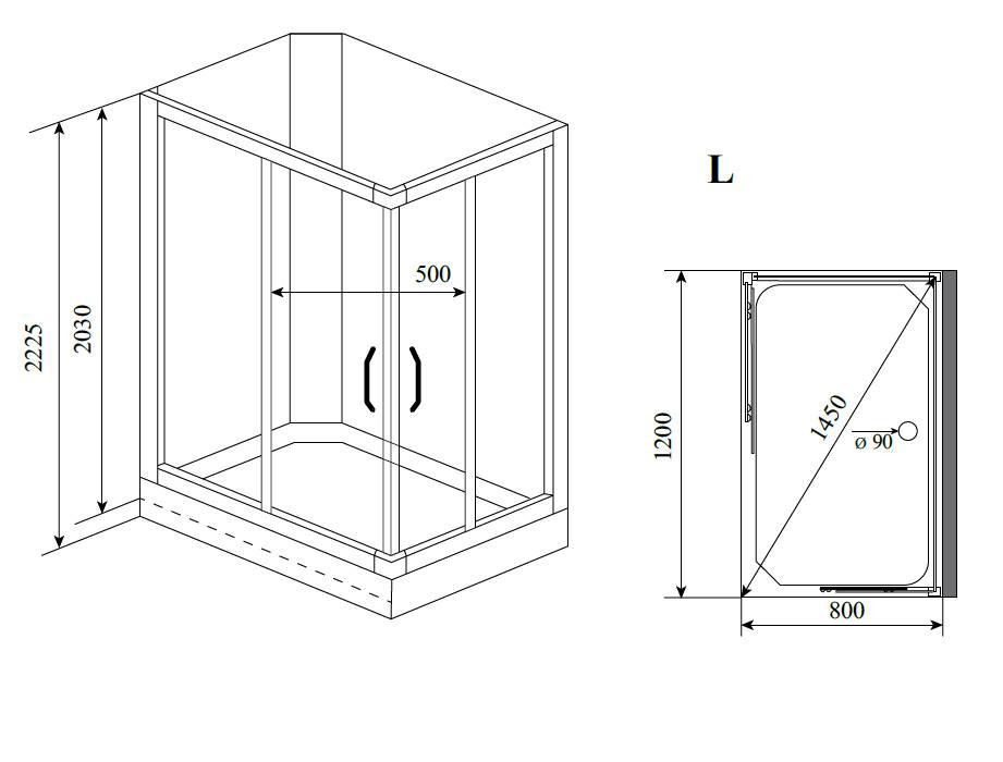 Типовые размеры душевых кабин: стандартные и нестандартные размеры изделий