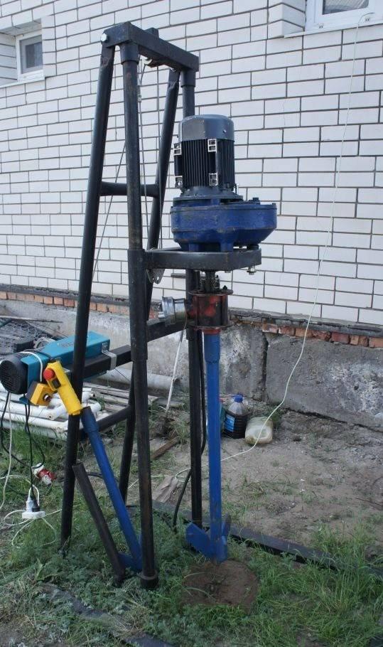 Ручная установка для бурения скважин на воду и оборудование