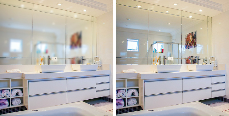 Как убрать запотевание зеркала в ванной надолго: инструкция +видео