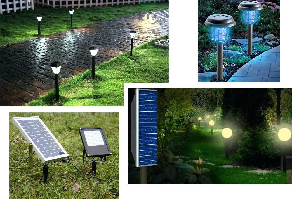 Уличные светильники на солнечных батареях для дачи — виды, эксплуатация, преимущества