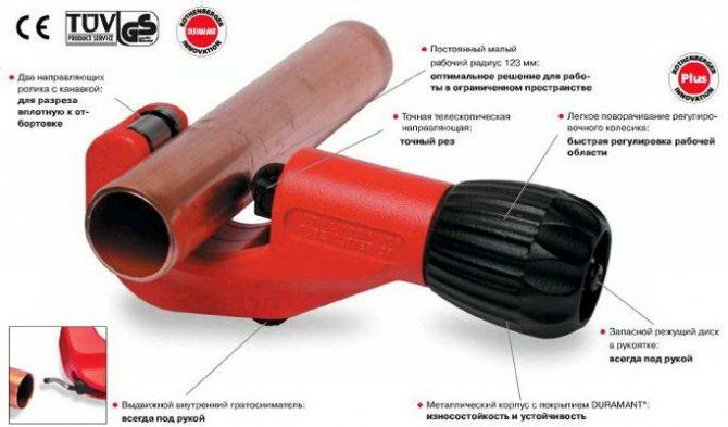 Выбираем лучшую модель трубореза для пластиковых труб - точка j