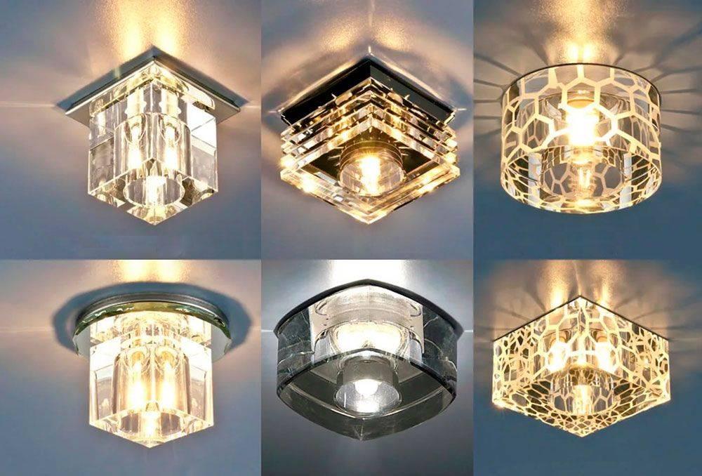 Какие светильники лучше для натяжного потолка: виды, выбор