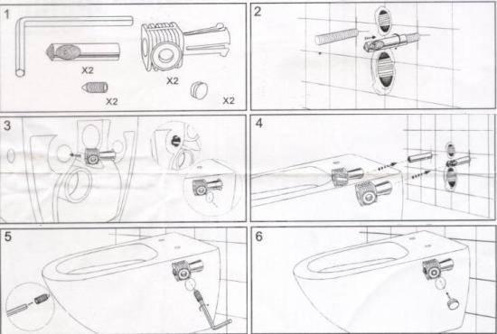 Крепление унитаза к инсталляции: пошаговый инструктаж