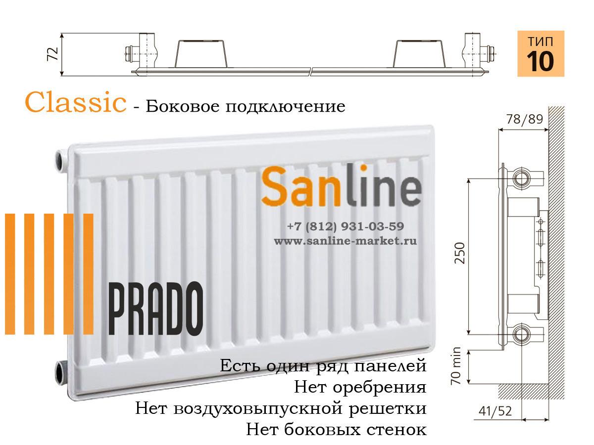 Панельные радиаторы «прадо» — российские стальные батареи