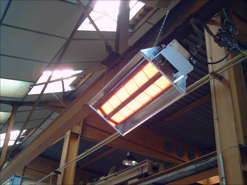 Инфракрасные обогреватели промышленные для помещений с большой высотой потолков