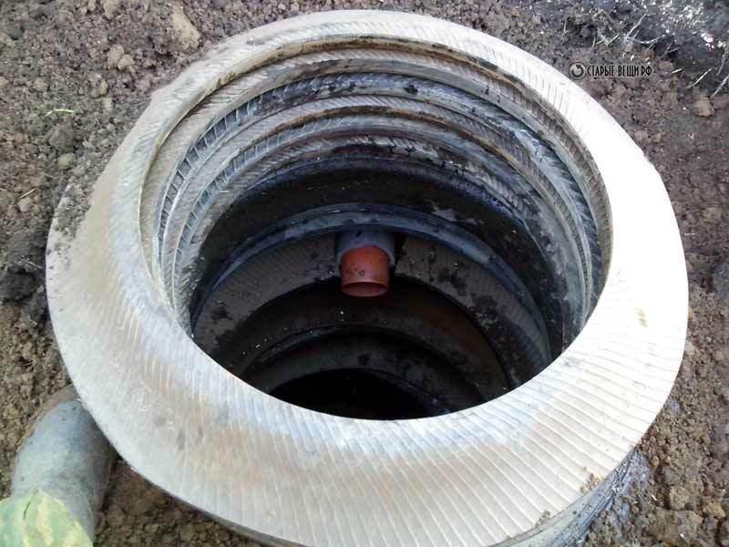 Экономичная выгребная яма из покрышек для дачи