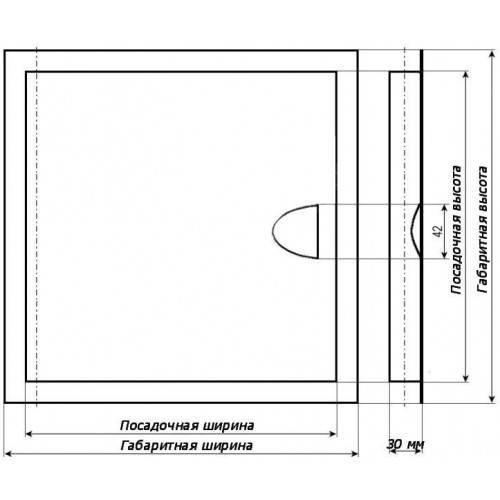 Пластиковые ревизионные люки — размеры, характеристики особенности монтажа