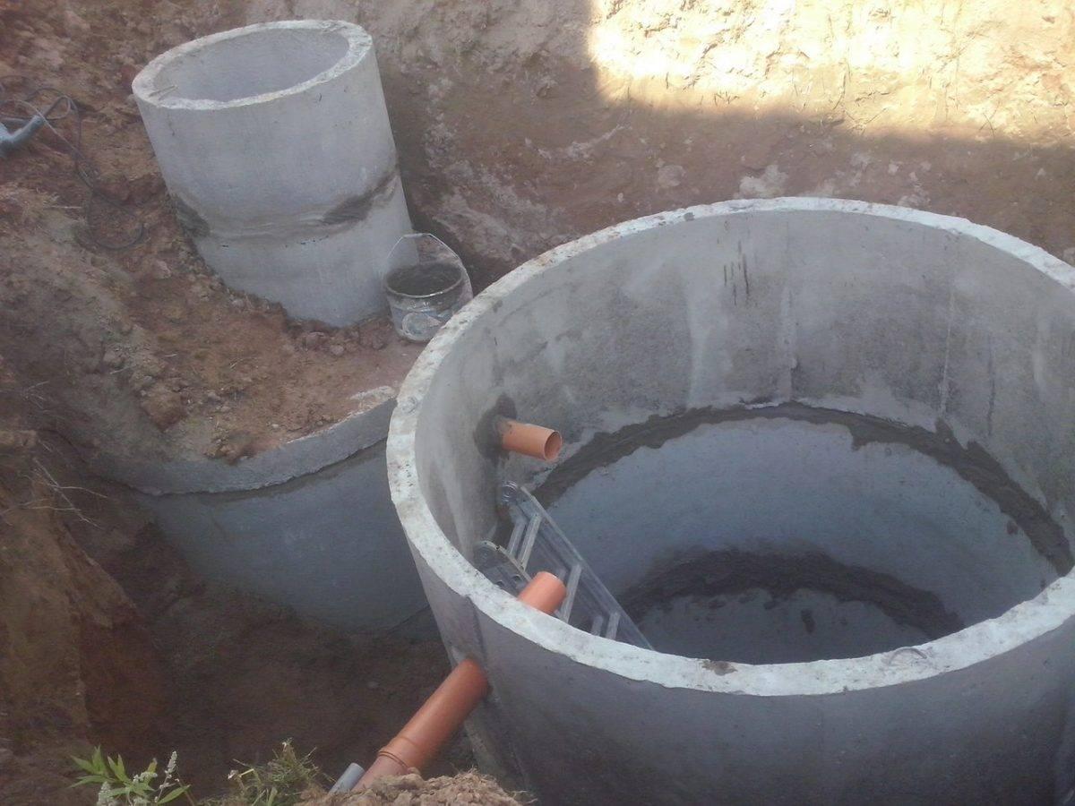 Монтаж канализационных колодцев: расчет и установка изделий из пластика и железобетонных колец