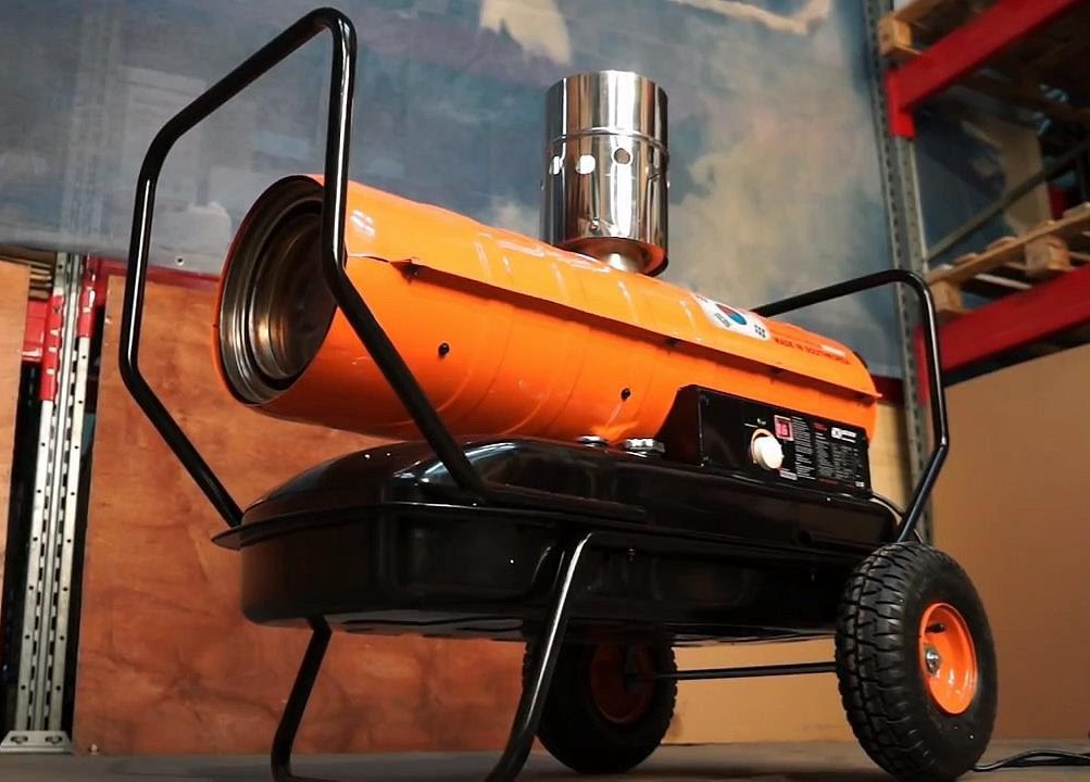 Тепловая отопительная пушка на дизельном топливе: для гаража, теплицы, склада