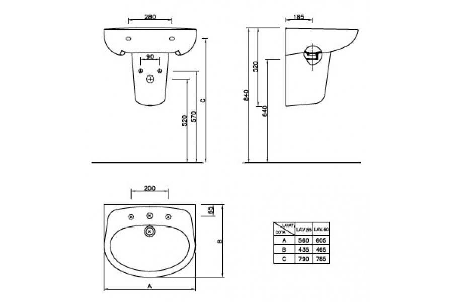 Пошаговая установка подвесной тумбы с раковиной