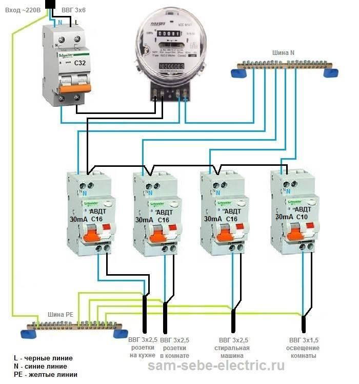 Подключение дифавтомата в однофазной сети - пошаговая инструкция