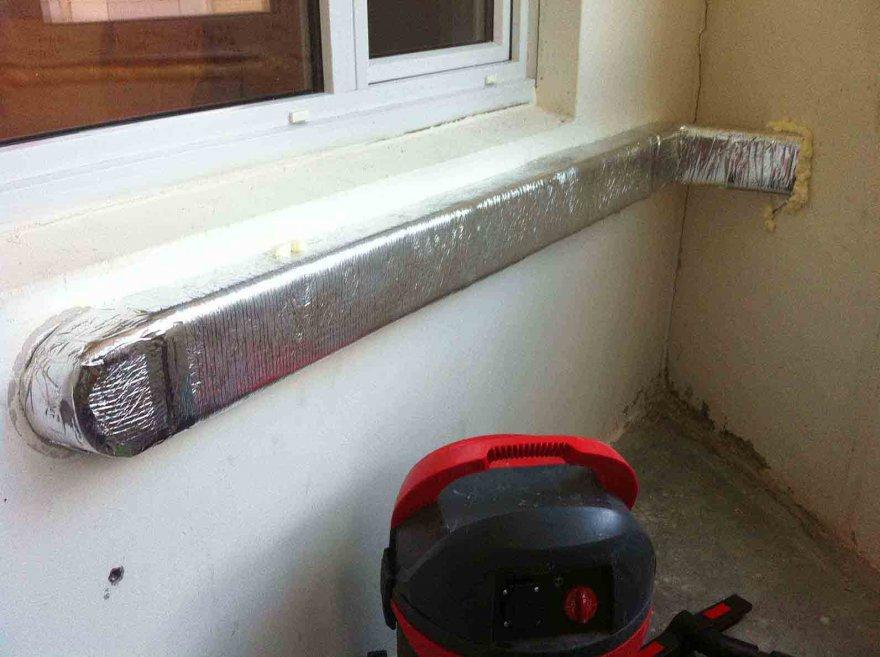 Вентиляция на балконе или лоджии своими руками: польза, варианты, монтаж