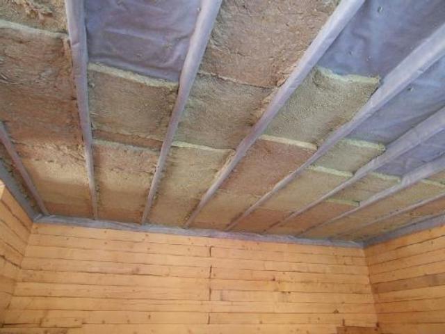 Утепление потолка в деревянном доме своими руками - минватой, пенопластом и другими материалами