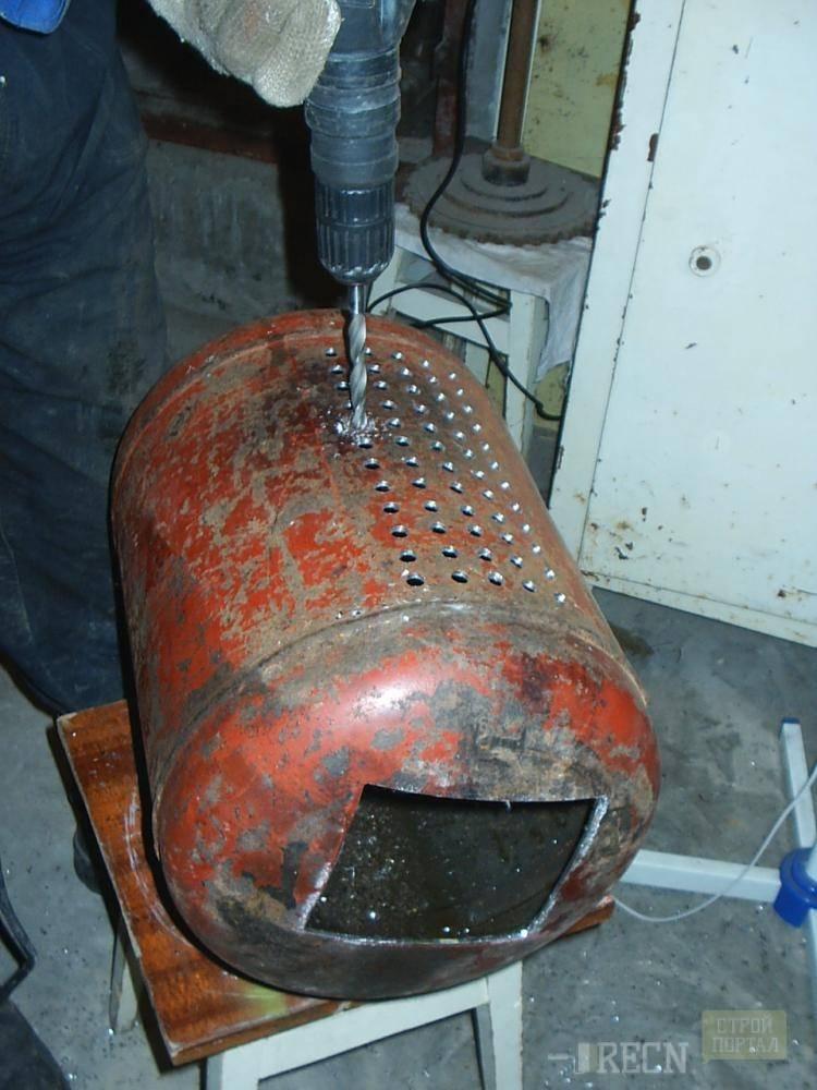Буржуйка из газового баллона – как сделать печь длительного горения