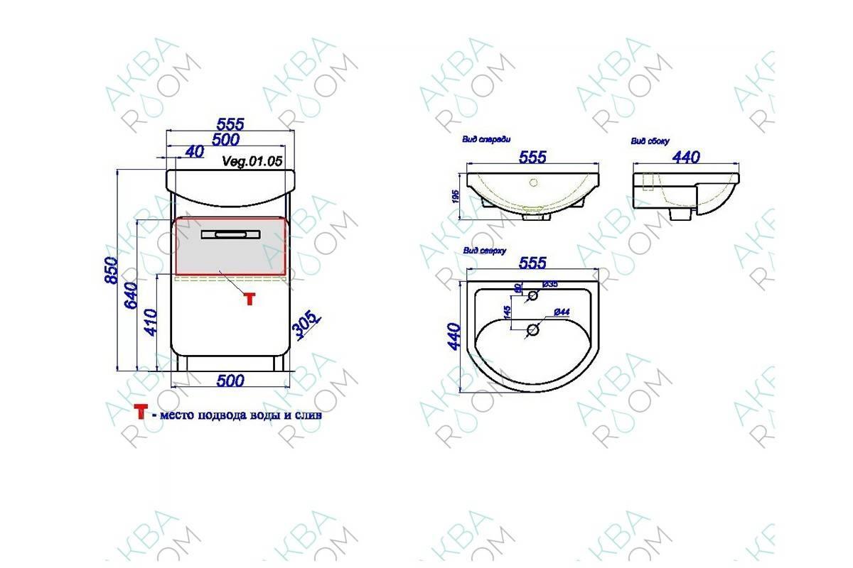 Подбор размеров раковины для ванной комнаты: особенности размещения + дизайнерские аспекты