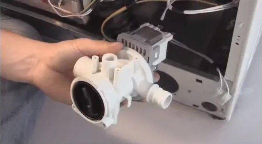 Как подобрать и произвести замену насоса для стиральной машины - точка j
