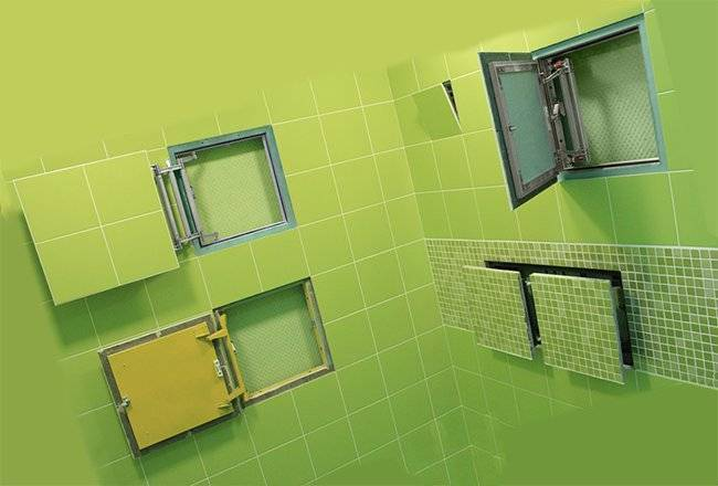 Размеры и характеристики сантехнических люков для ванной комнаты и туалета