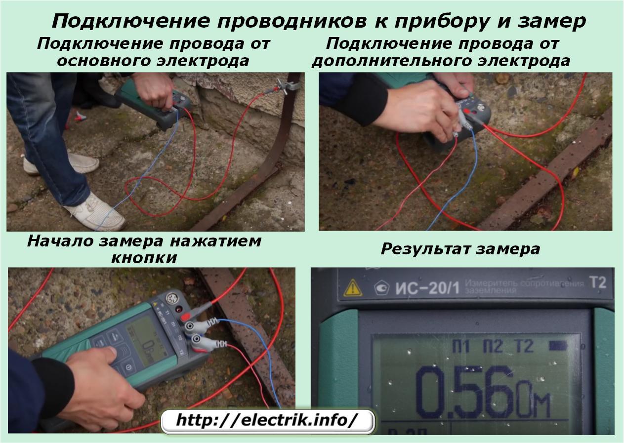 Измерение сопротивления заземления: приборы
