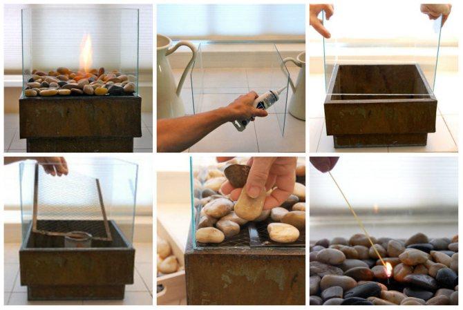 Биокамин своими руками - пошаговая инструкция с чертежами и видео