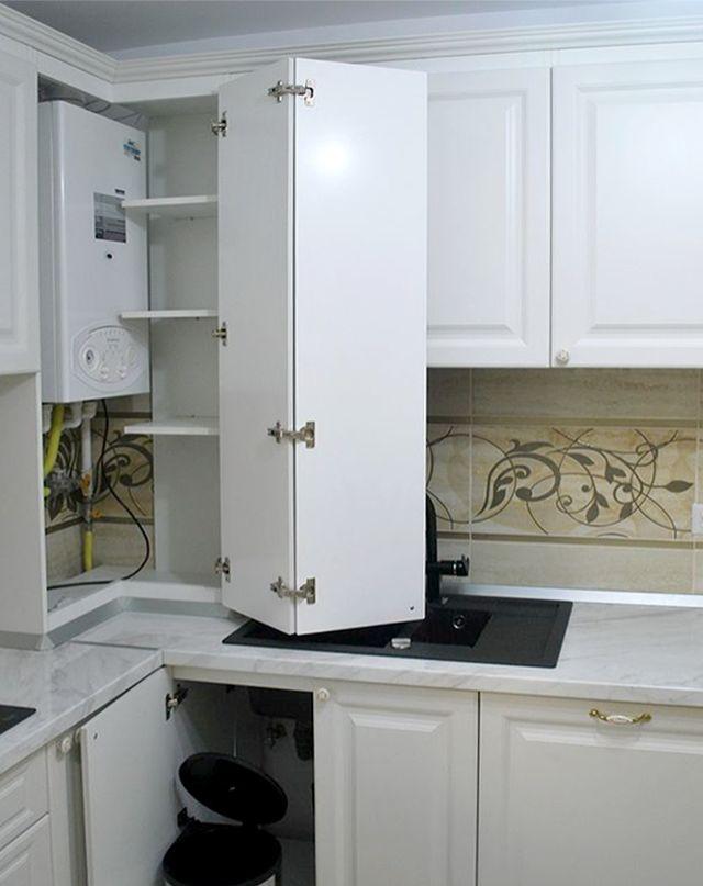 Как спрятать газовый котел на кухне: лучшие дизайнерские достижения в сфере маскировки