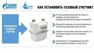 Срок эксплуатации газового счетчика