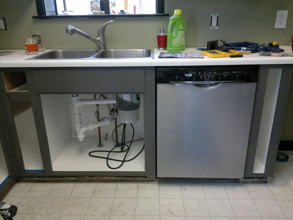 Пошаговая инструкция, как в готовую кухню установить посудомоечную машину