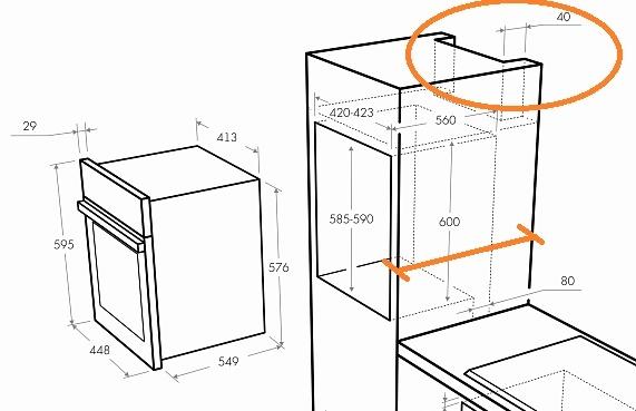 Установка электрического духового шкафа: инструкция