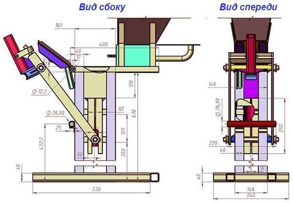 Станок для изготовления топливных брикетов из опилок, сделанный своими руками, и производственный вариант