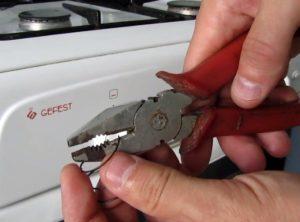 Как снять ручки с газовой плиты гефест и других моделей - подробное описание