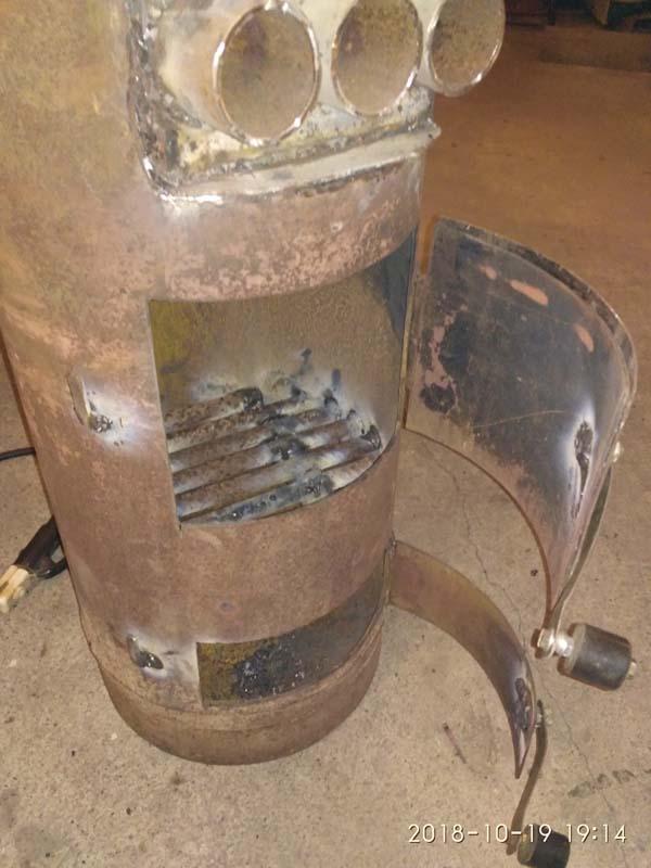 Как сделать печь для гаража из газового баллона?