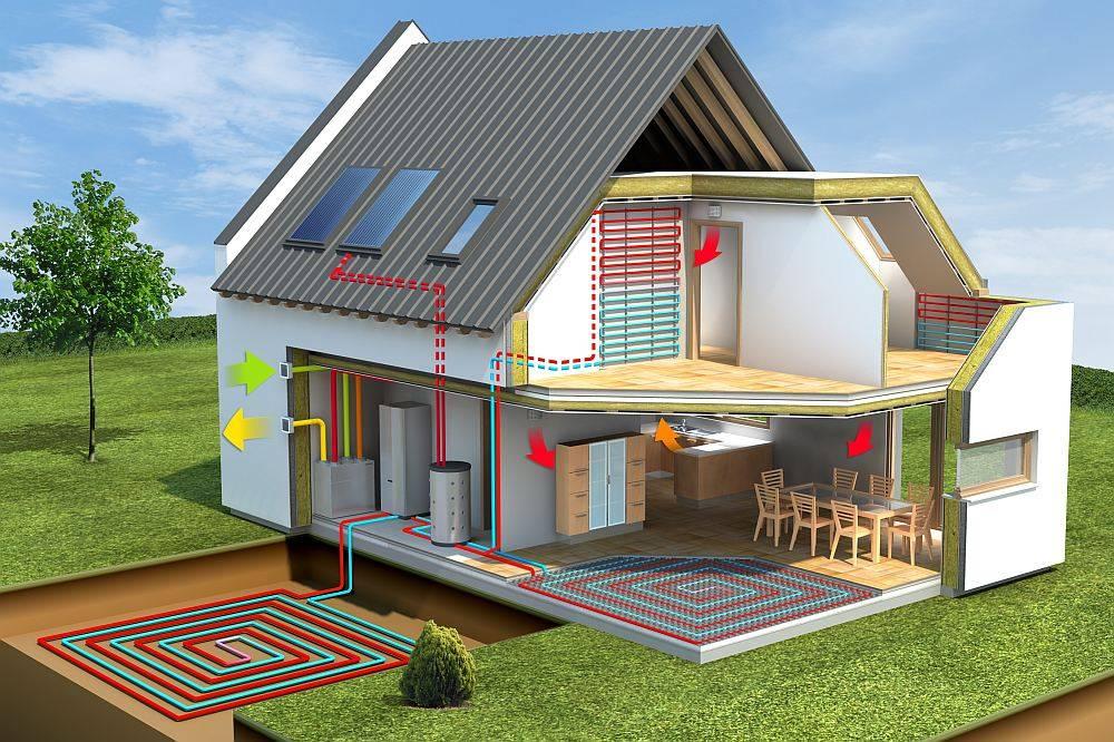 Строительство энергоэффективного дома своими руками недорого: технологии: каркасный, каменный, из кирпича +видео и проекты
