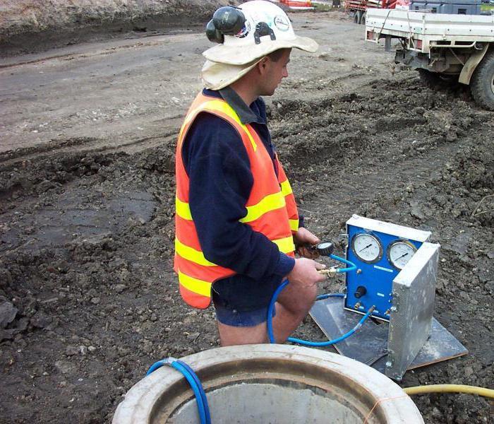 Контрольная опрессовка газопровода на герметичность