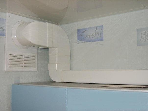 Как обыграть короб для вентиляции на кухне