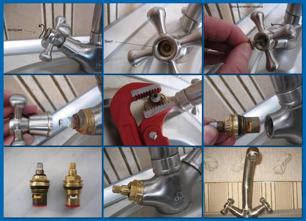 Течет кран в ванной: как починить смеситель своими руками, видео ремонта