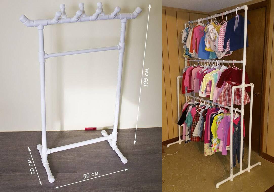 Вешалка для одежды своими руками +75 фото идей и примеров