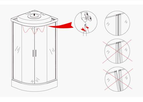 Сборка душевой кабины erlit,пошаговая инструкция.