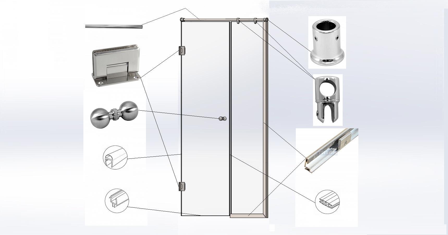 Ролики для душевых кабин: чем можно смазать колеса, установка комплекта колесиков для двери