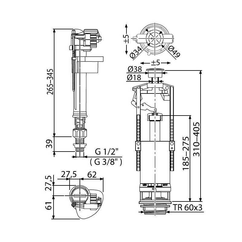 Арматура сливного бачка унитаза: как устроено и работает водосливное устройство